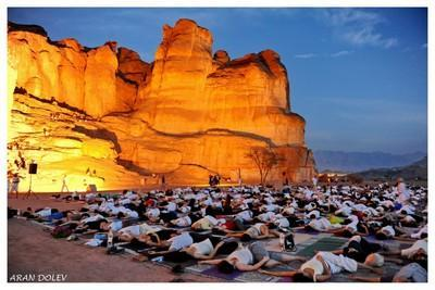Yoga Arava event