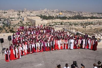 Gafcon participants at Mount of Olives