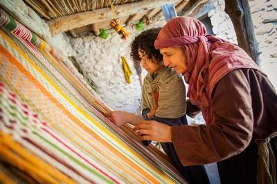Nazareth Village weaving