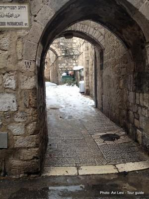 Snow in Jerusalem, Israel