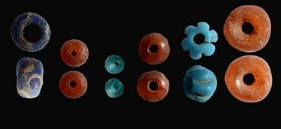beads found inside the dolmen